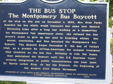 Montgomery honors the history of struggle at which it was long the center. To walk in these historic places is humbling.