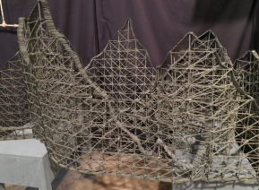 From a previous exhibit of match sticks, this model roller coaster...