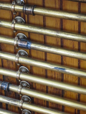 ...and the array of lines connecting the brass speaking tubes.