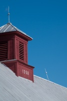The cupola speaks clearly against the Fall blue sky.