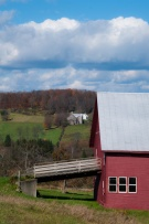 These two farms on Center Road have watched each other for many years, and still do.