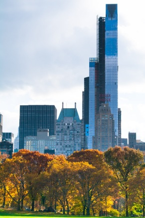 The contrast, looking south from Central Park, is always startling..