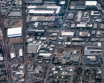 A particularly dense part of the urban landscape in the Bay Area.
