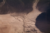 The imprints of erosion remain long after the water is gone, in eastern California or Nevada.
