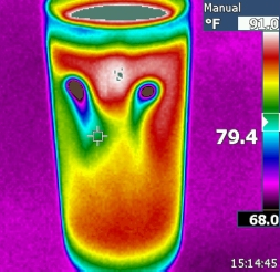 $20 10x10 Thermal image of two ice cube in a glass