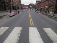 The empty street...