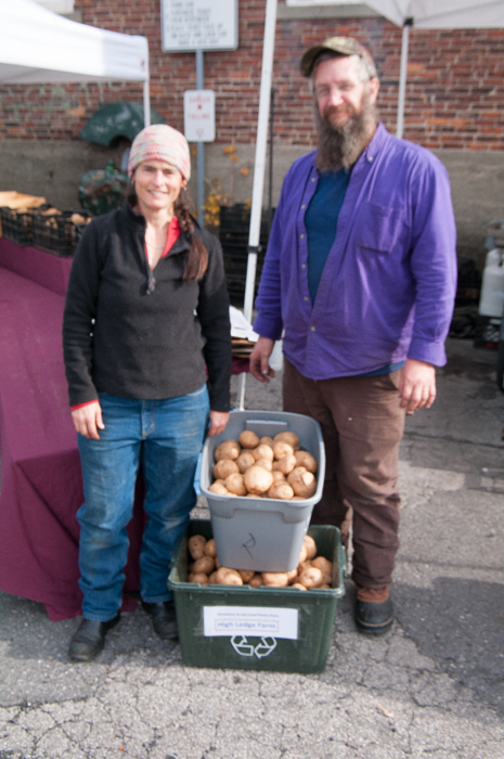 The Betz family of High Ledge Farm regularly donate their fabulous potatoes to the Food Pantry.