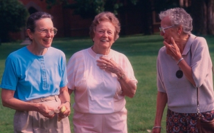 My Aunt Cai, mom and my Aunt Mote—three women who influenced me profoundly in life.