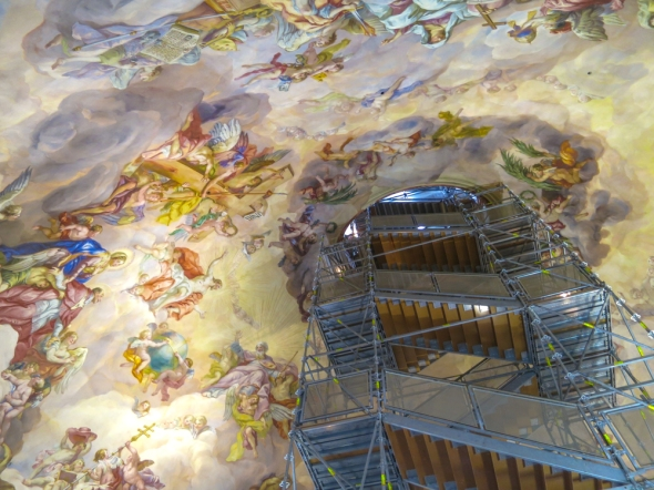We can place a dollar value on art but the real value is having it enjoyed like the celling of St. Ignazio in Vienna, painted by Andrea Pozzo, 1685