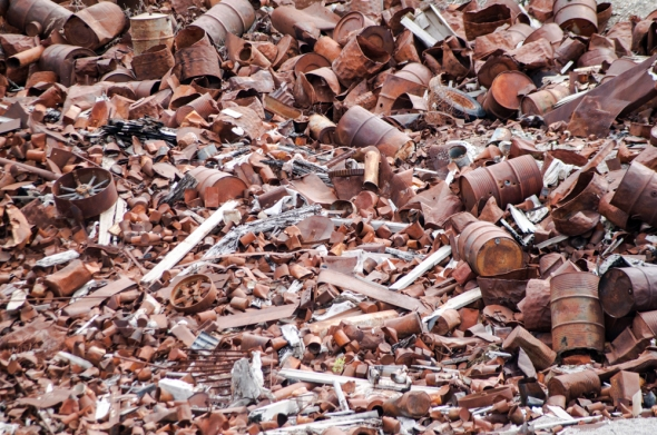 "A small part of what's left of Kennecott Copper after the profits were taken—a grim reminder of the cost of ""doing business."""