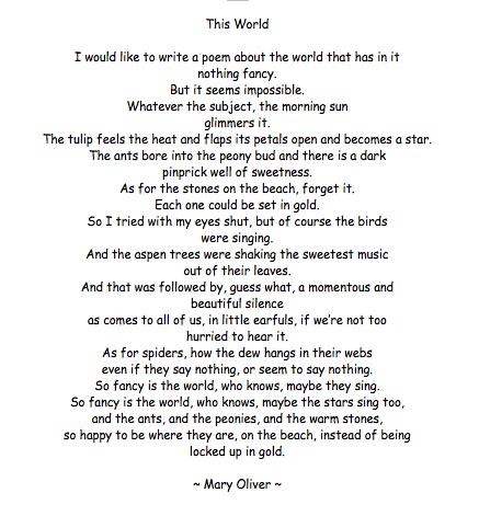 Oliver poem